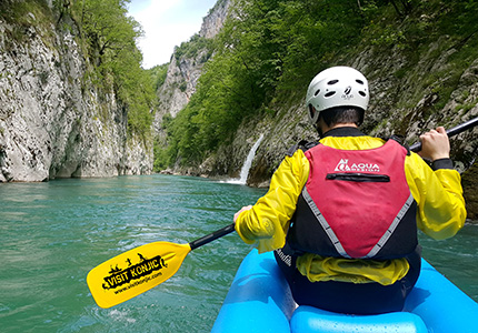 Mini canoeing Neretva