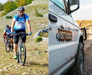 Jeep + biking + trekking tour (3in1)